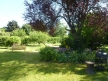 one side of the garden